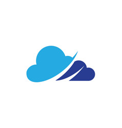 Cloud technology logo template design vector