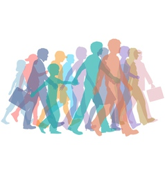 Colorful crowd people vector
