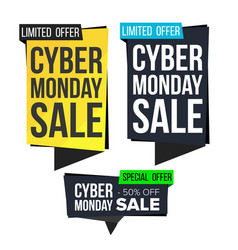 cyber monday sale banner set november vector image