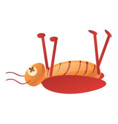 Dead cockroach icon cartoon style vector