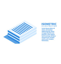 documents icon isometric template vector image