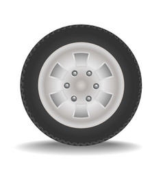 drawing of car wheel vector image