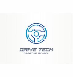 Drive tech creative symbol concept autonomous car vector
