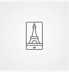eiffel tower icon sign symbol vector image