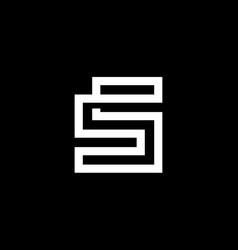 elegant modern black and white color letter s vector image
