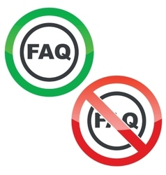FAQ permission signs vector
