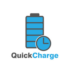 Fast charge logo speed charge energy logo vector