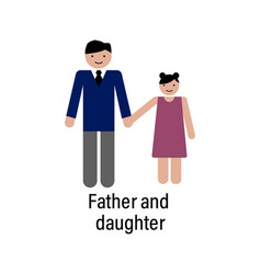 father and daughter icon can be used for web vector image