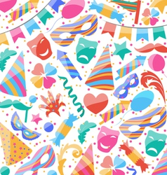 Festive wallpaper with carnival and party colorful vector image