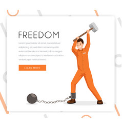 fighting slavery color landing page vector image