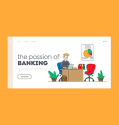 financial profession banking work occupation vector image