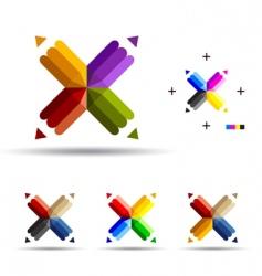 Fourend pencil vector