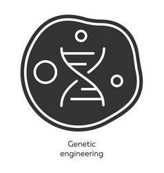 Genetic engineering glyph icons set genes vector