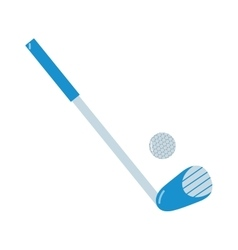 Golf putter and ball on white vector