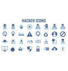 Hacker icon cyber spy vector