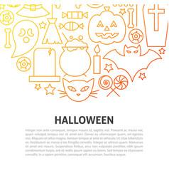 halloween line concept vector image