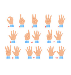 hands and numbers vector image