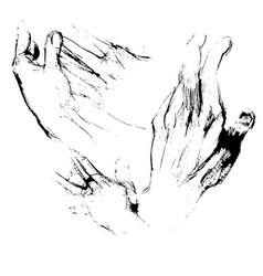 hands sketches vector image