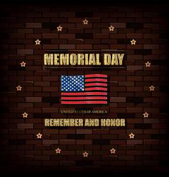 happy memorial day greeting card vector image