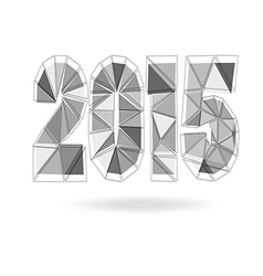 Happy New Year 2015 made in polygonal vector image