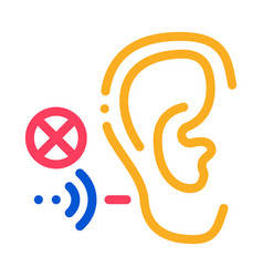 hearing impairment icon outline vector image
