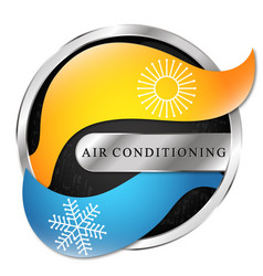 Heating and cooling arrows symbol for air vector