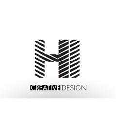hi h i lines letter design with creative elegant vector image
