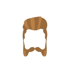Hipster Male Hair and Facial Style With Mutton vector image
