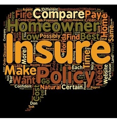 How To Compare Low Cost Homeowner s Insurance In vector image