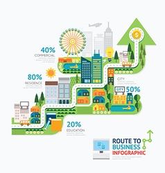 Infographic business arrow shape template vector