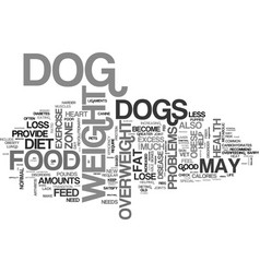 Is your dog fat text background word cloud concept vector