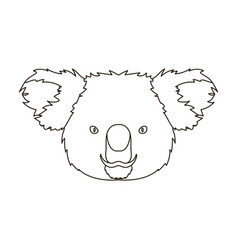Koala icon in outline style isolated on white vector