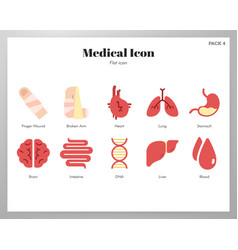 Medical icons flat pack vector