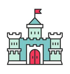 medieval castle color icon vector image