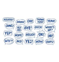 message dialog character set communication vector image