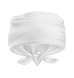 Mock up white bandana buff for head vector