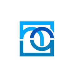 Modern logo business financial technology simple vector
