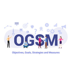 Ogsm objectives goals strategies and measures vector