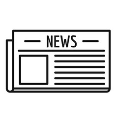 old newspaper icon outline style vector image