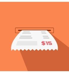 Paper receipt from cash vector
