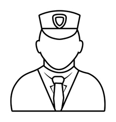 police avatar wearing white clothes graphic vector image