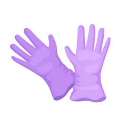 Purple gloves on a white vector