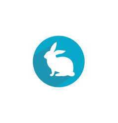 Rabbit logo template icon desi vector