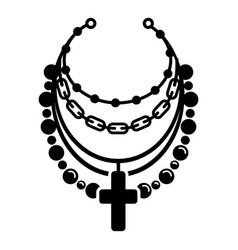 Rapper cross jewelry icon simple style vector