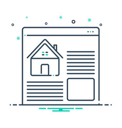 Real estate websites vector