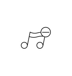 remove music note icon vector image