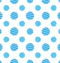 Seamless Blue Dots Pattern on white Background vector image