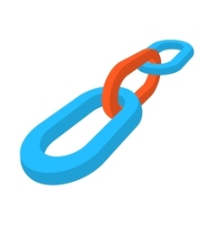 SEO link building cartoon icon vector image