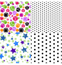 set of four seamless patterned texture vector image