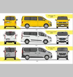 Set passenger vans l1h1 vector